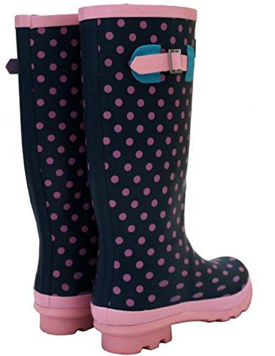A&H Footwear ,  Mädchen Damen Arbeits-Gummistiefel Rosa Gepunktet