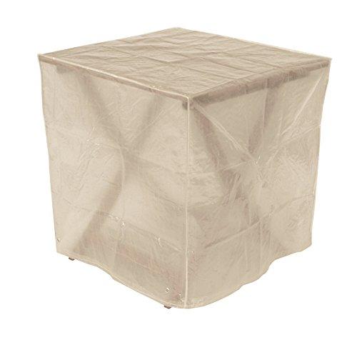 Schutzhülle Abdeckhaube 70x70cm quadratisch für Gartentische, PE transparent