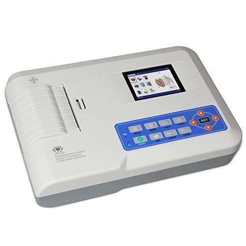 AIESI Elettrocardiografo a 3 canali interpretativo ECG300G con software per collegamento a PC e stampante termica integrata ad alta risoluzione