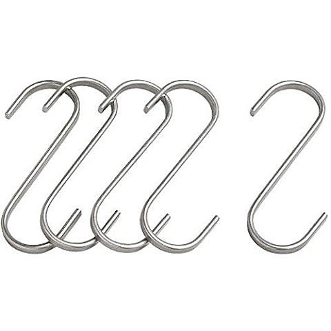 Lugii Cube inoxydable 2,75en (7cm) 5-pack Boucher à suspendre Crochet (crochets en S)