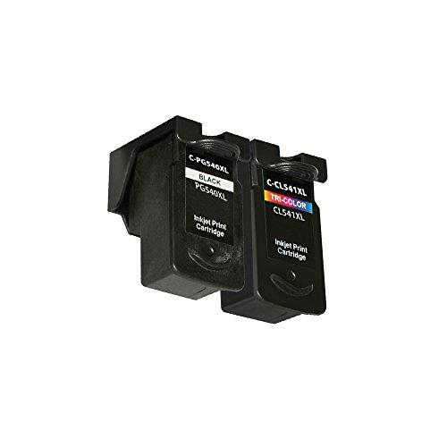 LCL(TM) PG540XL CL541XL (2-Pack Nero/Colorato) Cartucce d'inchiostro Compatibile per Canon Pixma MG2250/2150/3150/3250/4250/4150/MX435/375/515/MG3650