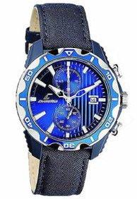 Orologio chronotech uomo ct.7239m/03 al quarzo (batteria) acciaio quandrante blu cinturino tessuto