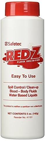 Safetec Red-Z Fluid Control Solidifier, Shaker Top Bottle, 5oz, Each by Safetec