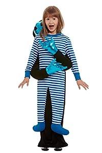 Smiffys 51083ML - Disfraz de secuestro alienígena para niños, unisex, color azul, talla M a L, para niños de 8 a 12 años