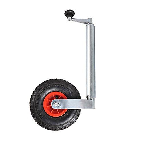 ProPlus Anhänger Stützrad Kunststofffelge 150kg Trailer Bugrad 26 x 8,5 cm 341503