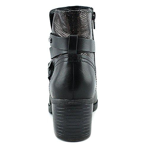 Naturalizer Ringer Rund Leder Mode-Stiefeletten Black/Bronze
