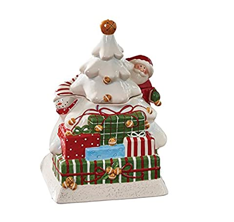 Park Designs Sleigh Bells Cookie Jar, , Multicolored