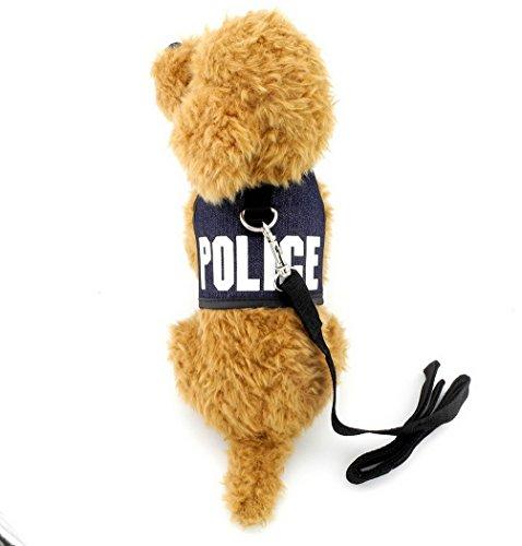 Hund, Polizei-weste (Pegasus Pet Kleidung für Welpen Katze Kleine Hunde Polizei Weste Geschirr Leine Set Mesh Gepolsterte Leine)