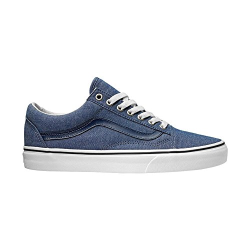 Vans Herren Sneaker Old Skool (C&L) chambray/blue 43 - Blue Denim Tennis Shoe