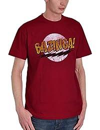 T-shirt Big Bang Theory Bazinga pour les fans de Sheldon rouge