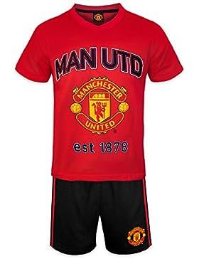 Manchester United FC - Pijama corto para niño - Producto oficial