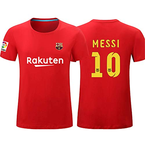 4de76f34cf2 Kurze äRmel T-Shirt 10 Messi Barcelona Top Player Football Club Jungen  Sommer Sport Und