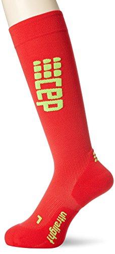 CEP Ultralight Run Socks Kompressionssocken Herren, Red/Green, IV - 39-44 cm