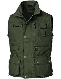 Pinewood Tiveden - Chaleco para hombre, color verde oscuro, talla L