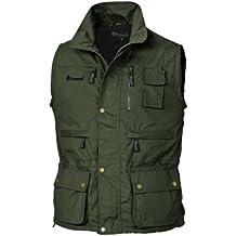 Pinewood Tiveden - Chaleco para hombre, color verde oscuro, talla M