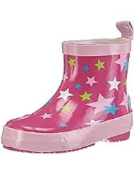 Playshoes Kurze Kinder Gummistiefel Sterne aus Naturkautschuk