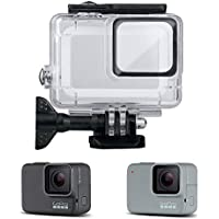 OOOUSE Waterproof Housing Shell for GoPro Hero7 Silver/White, 147ft Underwater Diving Case Transparent Acrylic Protective Cover for Gopro Hero 7 Session Action Camera Accessories