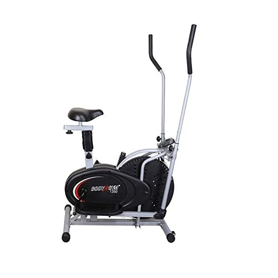 Healthex Exercise Bike for Weight Loss at Home | Orbitrac 4 in 1 Exercise Bike | Multi Orbitrac Elliptical l Cardio Workout | Orbitrac Dual Action Trainer with Seat | Fitness Cross Trainer Cycle | Sitting Pedaling/Standing Rowing | Orbitrac Cycle