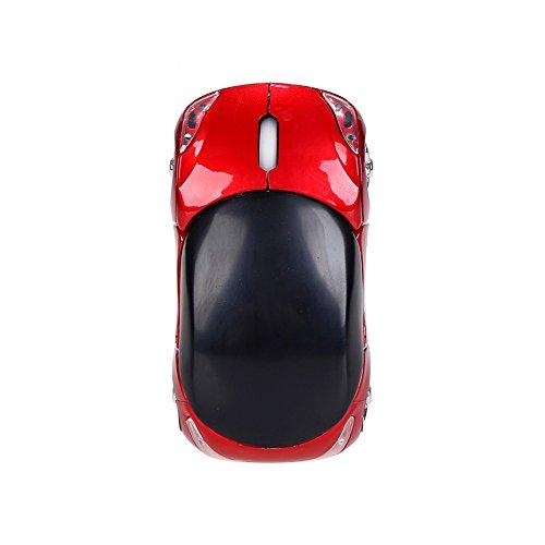 DingLong Coole Maus, 2,4 GHz 1200DPI Drahtlose optische Maus USB-Scroll Mäuse (Rot) -