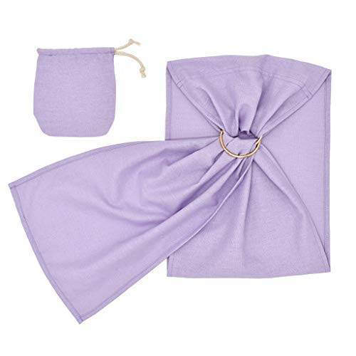 Lazzgirl Kleinkind Baby Leinen Feste Puppe Träger Puppe Ring Sling Kinder Spielzeug Ring Sling(Lila,One Size)