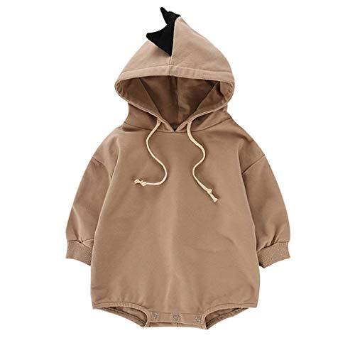 Livoral Kinder Wintermantel Jacke Junge Baby neugeborenes Baby Jungen Dinosaurier Overall Overall Spiel Anzug Kleidung(Braun,12-24 Monate)