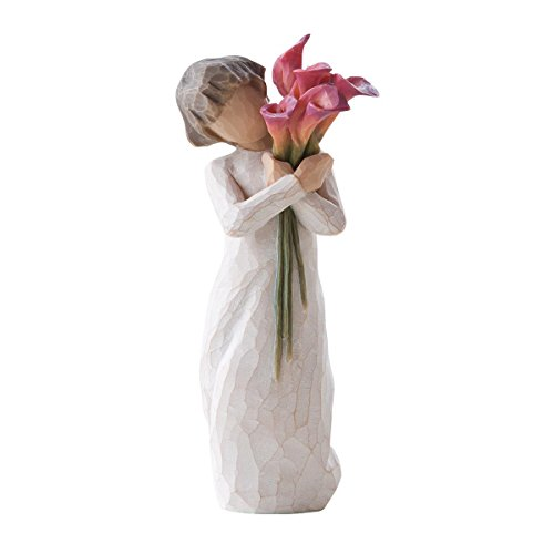 Willow Tree 27159 Figur Engel der Blüte, 3,8 x 3,8 x 14 cm -