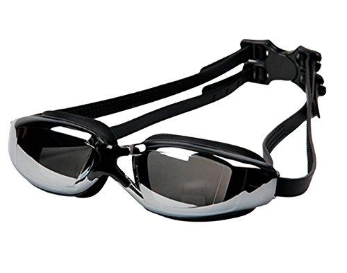 Panegy Herren Schwimmen Set Spandex Dacron Schwimm Hose Brille Cap Tasche Ohrstöpsel Männer einstellbare Kopfhalterung Hälfte Shorts Schwimmbrielle Ear Plug Badehose (Größe/Farbe Wählbar) Weiß