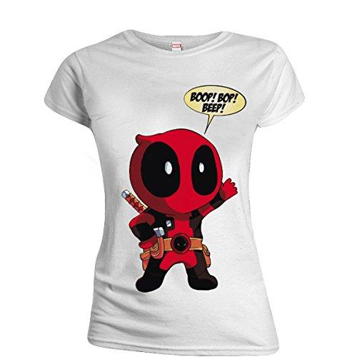 Deadpool - Baby Deadpool Damen T-Shirt - Weiß Weiß