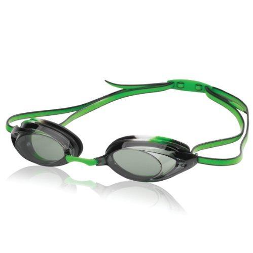 Speedo Jr. Vanquisher 2.0 Anti-Fog Swim Swimming Competition Goggle, Black/Green - Goggles Jr Speedo