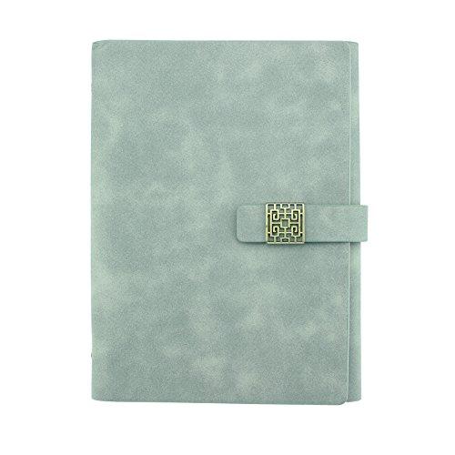 Chic Büro A5NACHFÜLLBAR Notebook, stilvoller Personal Organizer, Papier Größe: 14x 20,3cm, grau