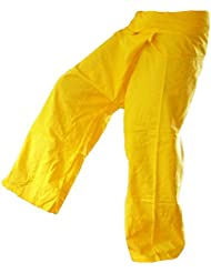 Panasiam, pantalon Thai (Fisherman), coloris jaune, S-L