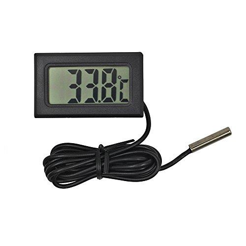 Reptilien Thermometer Embedded LCD Digital Monitor mit 1m Temperatur Sonde für Kühlschrank und Fisch Tank