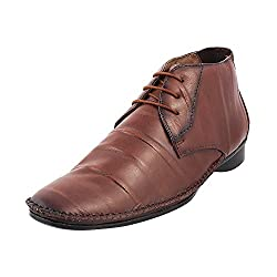 Mochi Men Tan Leather Boots ( Size ) EURO43/UK9