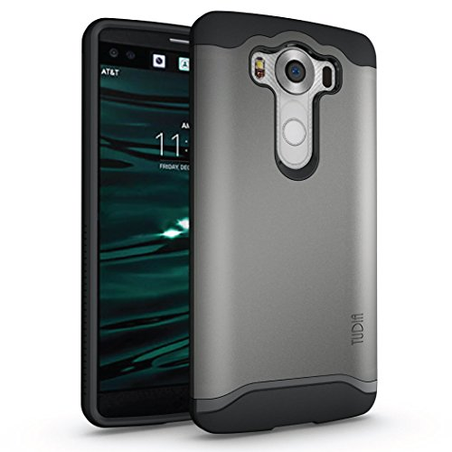 LG V10 Hülle, TUDIA Slim-Fit Merge Dual Layer Schutzhülle für LG V10 (Metallic Slate)