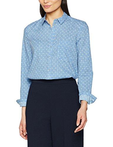 ESPRIT 027ee1f055, Blusa para Mujer, Multicolor (Navy), 40