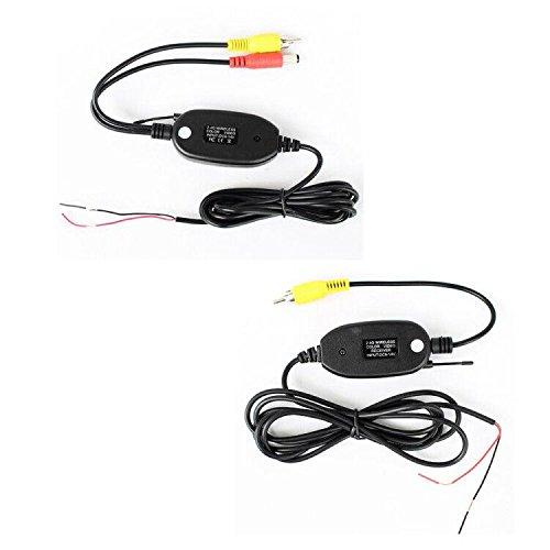 Kalakass 2.4GHz Wireless Transmitter Receiver für Auto Reverse Rückfahrkamera und Monitor Einparkhilfe Fahrzeug CAM GPS Radio Player 2,4 Ghz Wireless Transmitter