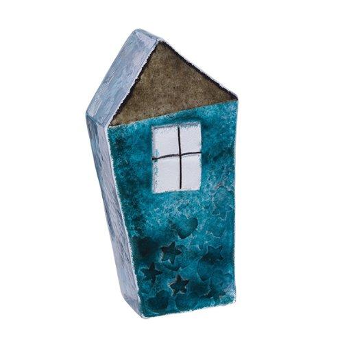 Caithness Glass Piece Crystal Sarah P Art Glass Our House Paperweight, Blue