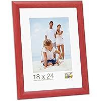 Promo Ideal Marcos de Fotos Marcos de Madera Varios Tamaños + Colores - Rojo, ...