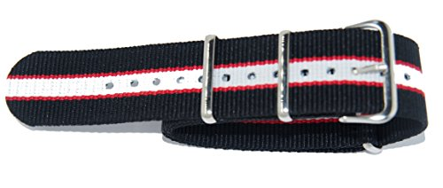 cinturno NATO aus Cordura Fantasie 22-22 Nero Bianco E Rosso