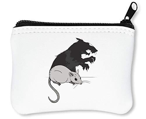 Little Mouse Her Shadow Graphic Reißverschluss-Geldbörse Brieftasche ()