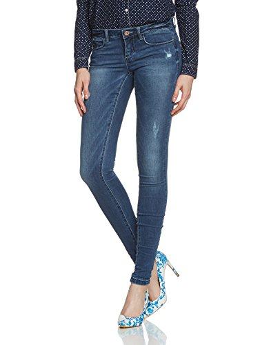 Marke: Only   Bezeichnung: CORAL Superlow Skinny DNM Jeans Blau   Materialzusammensetztung: 89% Baumwolle, 10% Polyester, 1% Elasthan   Farbe: Mittelblau mit leichter Waschung   Gewicht: 320 gramm   Innenmaterial: Baumwolle   Aussenmaterial: Baumw...