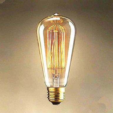 FDH 40 W Edison St 64 Straight Wire Glühbirnen für Verkauf Edison Kunst Dekoration Licht E26/E27 (Verkauf Dekorationen)