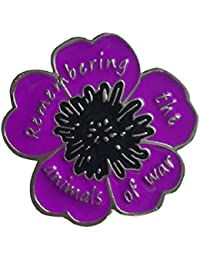 EyeWearStraps NEW 2018 Purple Poppy 'Remembering The Animals Of War' Badge Brooch Remembrance Day Pin