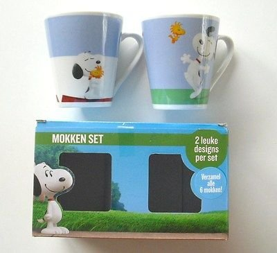PARIS STOCK 2er Set Tasse Snoopy & Friends - Snoopy Charlie Brown Mug Peanuts - Tasse Kaffeetasse 2er Set Snoopy Kaffeebecher Geschenkidee Snoopy & Friends