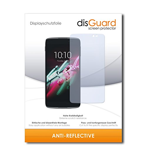 disGuard® Bildschirmschutzfolie [Anti-Reflex] kompatibel mit Alcatel One Touch Idol 3C [4 Stück] Entspiegelnd, Matt, Antireflektierend, Extrem Kratzfest, Anti-Fingerabdruck - Panzerglas Folie, Schutzfolie