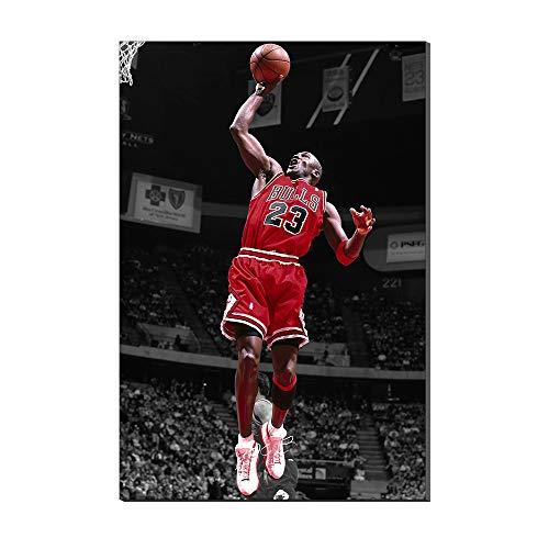 Karen Max Michael Jordan Slam Dunk Air Basketball Legende Neues Haus Geschenke Home Decor Sport Poster Ölgemälde auf Leinwand Bilder Artwork, 40x60cm (Air Jordan Haus)