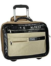 Bolsa profesional trolley pilota porta pc ORNA 916 beige semi rígida VS235