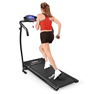 Finether Running Machines Electric Motorized Treadmill Folding Running Jogging Walking Machine for Home Exercise with 3 Level Incline│Heart Rate Monitor│100 KG Capacity