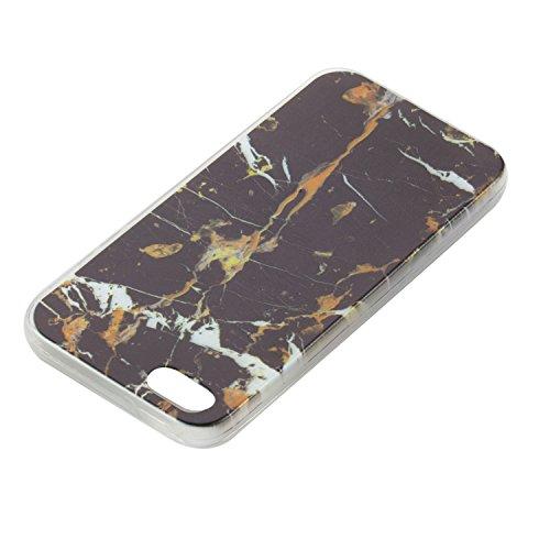 Felfy Housse iPhone 5S,iPhone 5S Coque Transparente Souple,iPhone SE Case Bumper Transparent en Silicone Ultra Slim Mince en Caoutchouc Souple Gel Coque Coquille Couverture Papillon Pastèque Citron Mo Marbre Noir