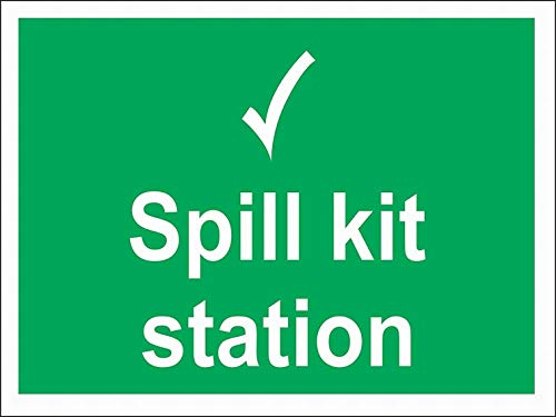 Spill-station Kit (mefoll Spill Kit Station Sign Notice Sign 12x16 Warning Sign Safety Sign Road Sign by)